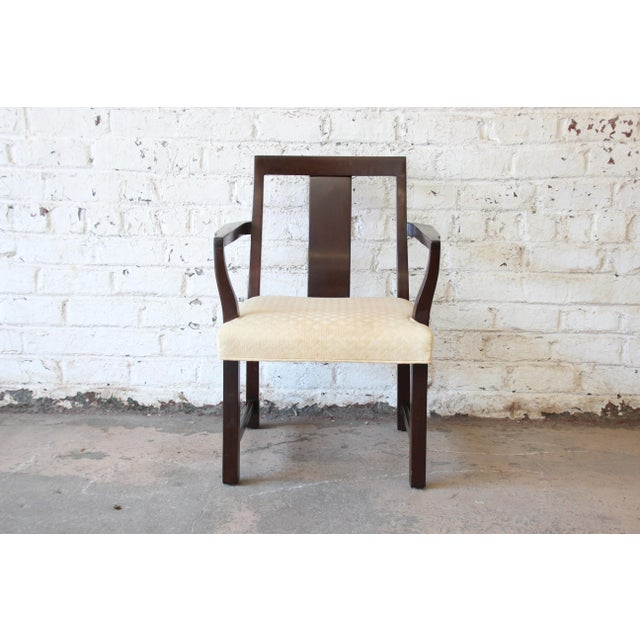 Textile Edward Wormley for Dunbar Mid-Century Modern Dining Chairs, Set of 16 For Sale - Image 7 of 13
