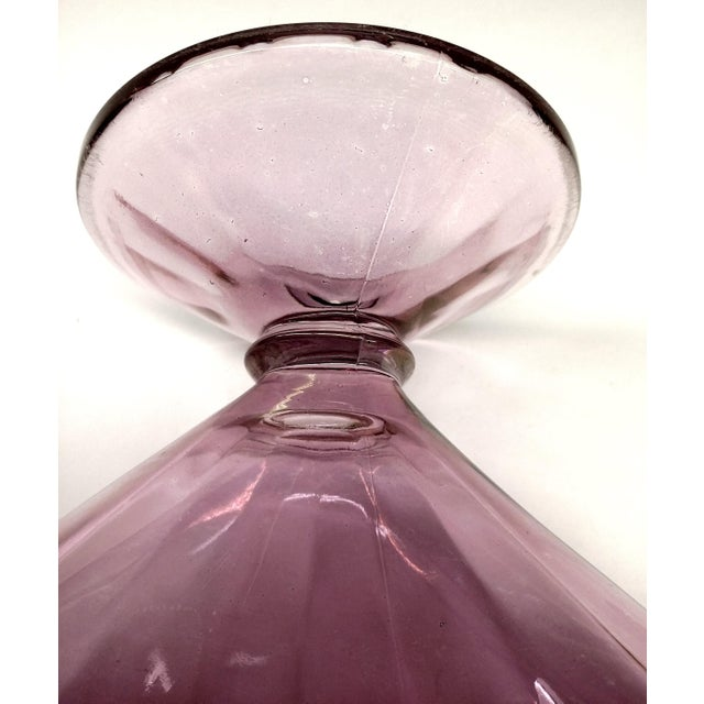 MCM Lilac Iridescent Fan Vase With Stem For Sale - Image 9 of 9