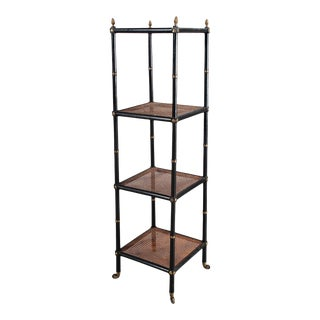 Mid 19th Century Regency Ebonized Etagere For Sale