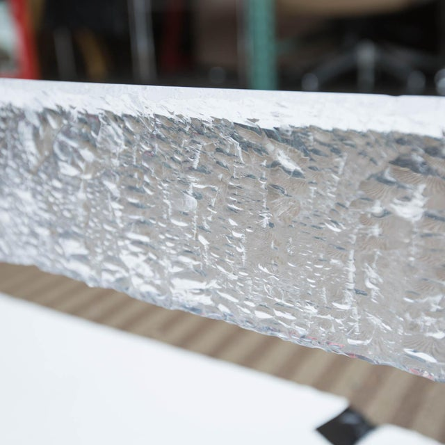 Lucite Large Custom Lucite Coffee Table Base For Sale - Image 7 of 9