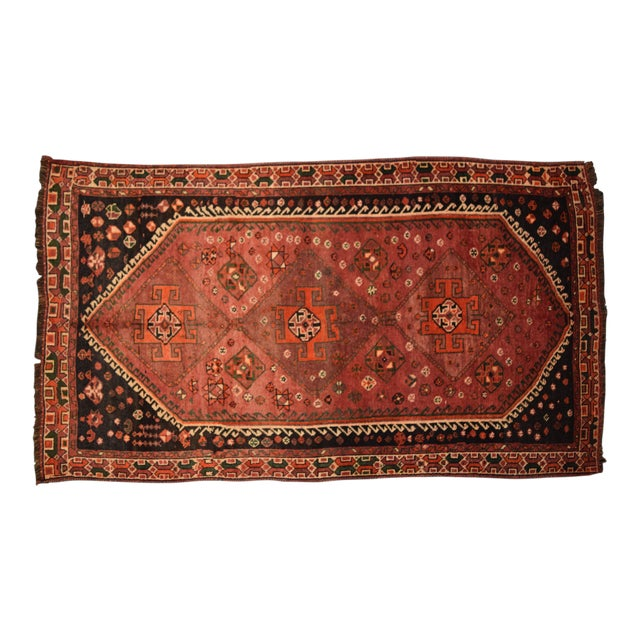 Antique Caucasian Hand Knotted Traditional Rug - 4′7″ × 8′6″ For Sale