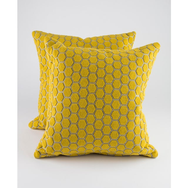 "Yellow 18"" X 18"" Osborne and Little Ledoux Down Pillows For Sale - Image 8 of 8"