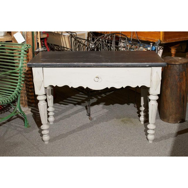 French Painted Wood Butcher Table - Image 2 of 7