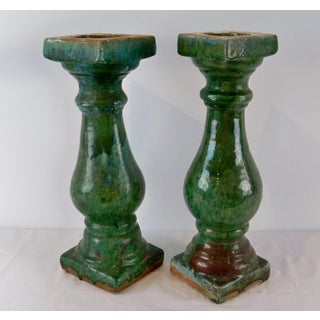 Antique Ceramic Balustrade Green Glazed Chinese 19th Century Preview