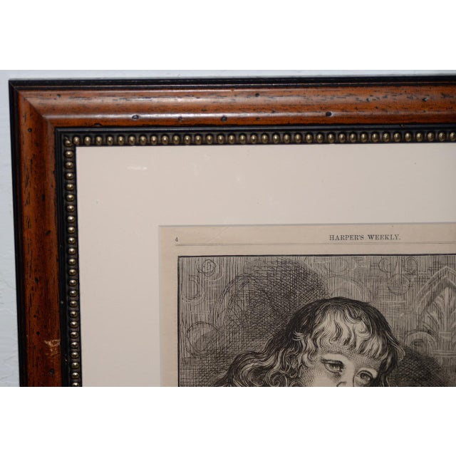 "Americana Thomas Nast ""A Christmas Sketch"" for Harpers Weekly C.1878 For Sale - Image 3 of 10"