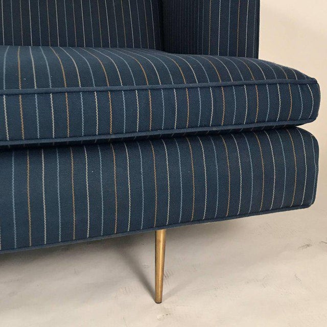 Mn Originals Sofa in the Manner of Dunbar Classic Modern Sofa With Brass  Legs