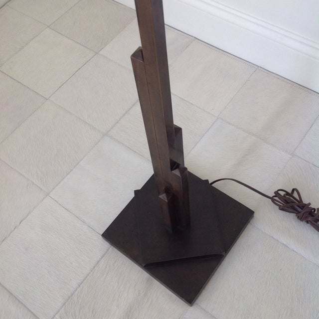 1940's Bronze Finish Tall Floor Lamp - Image 5 of 10