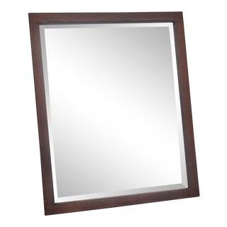 Vintage Foxed Wood Mirror