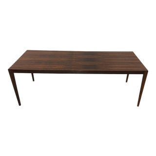 Midcentury Danish Extendable Rosewood Coffee Table For Sale