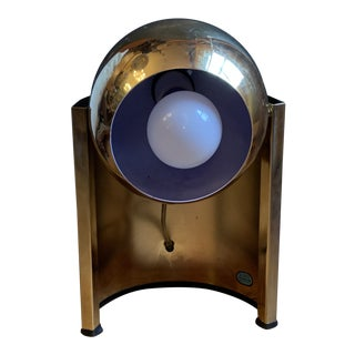 1970s Vintage Mid Century Brass Eyeball Lamp For Sale