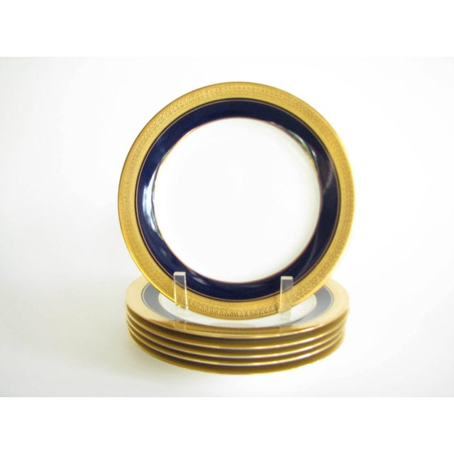 Late 20th Century Vintage Noritake Cobalt and Gold Encrusted Band Tea Set - 21 Pieces For Sale - Image 5 of 13