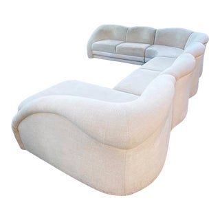 Contemporary Rolling Waves Sectional Sofa For Sale