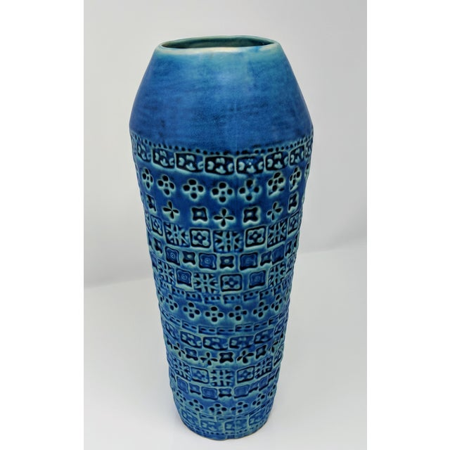 Tribal Inspired Embossed Vase For Sale - Image 11 of 13