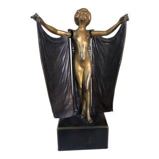 Carl Kauba Erotic Nude Bronze Open Sesame Signed Figure For Sale