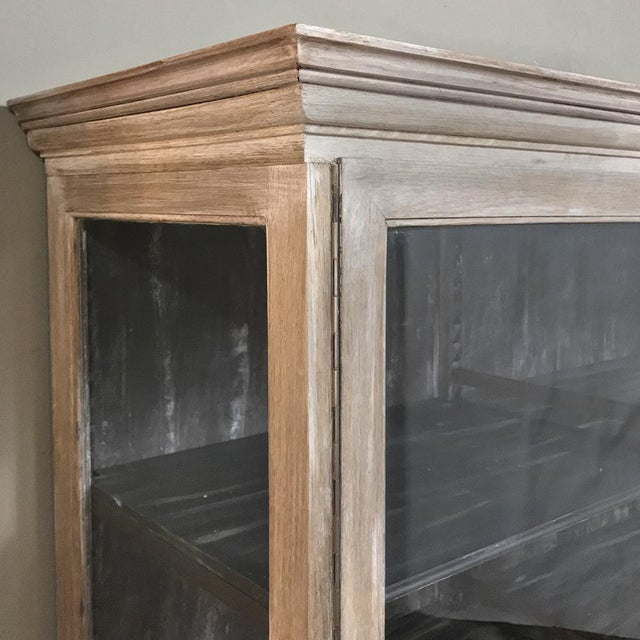 Antique French Louis XVI Whitewashed Bookcase ~ Vitrine For Sale - Image 10 of 13