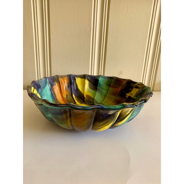 Groovy Handmade Pottery Vintage Bowl For Sale - Image 4 of 13
