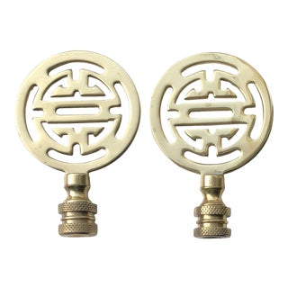 Chinoiserie Brass Finials -A Pair