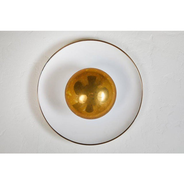 Gold 1950s Gino Sarfatti Ceiling Lamp Model #155 for Arteluce For Sale - Image 8 of 11