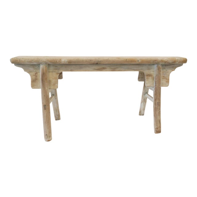 19th Century Oak Mortised Bench - Image 1 of 7