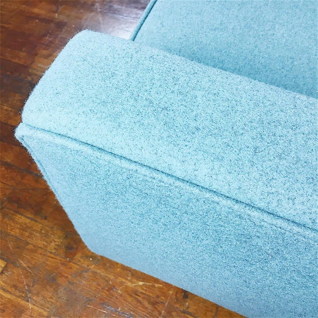 Blue Florence Knoll Sofa For Sale - Image 9 of 11