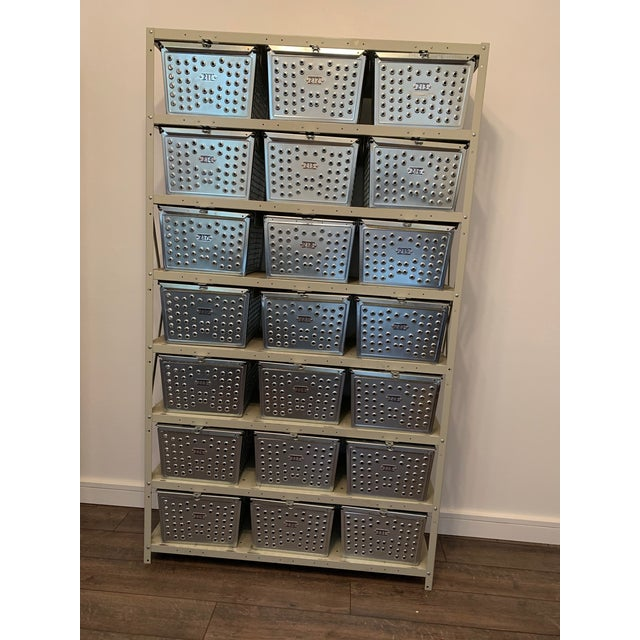 Vintage Industrial Swim and Gym Basket Lockers With Shelving For Sale - Image 11 of 11