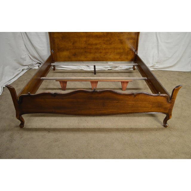 Guido Zichele French Country Style Walnut King Size Bed