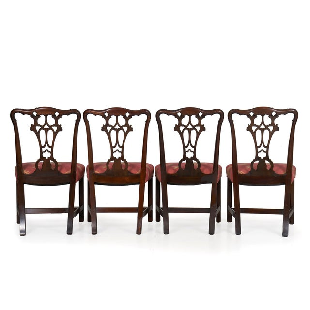 Brown 20th Century English Antique Carved Mahogany Dining Chairs - Set of 6 For Sale - Image 8 of 13