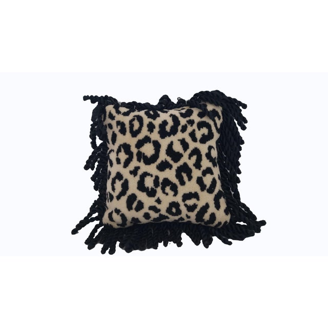 80's Mini Throw Cheetah Pillows. 2 pillows with opposite prints on each sides. 4x4 pillows with black tassels