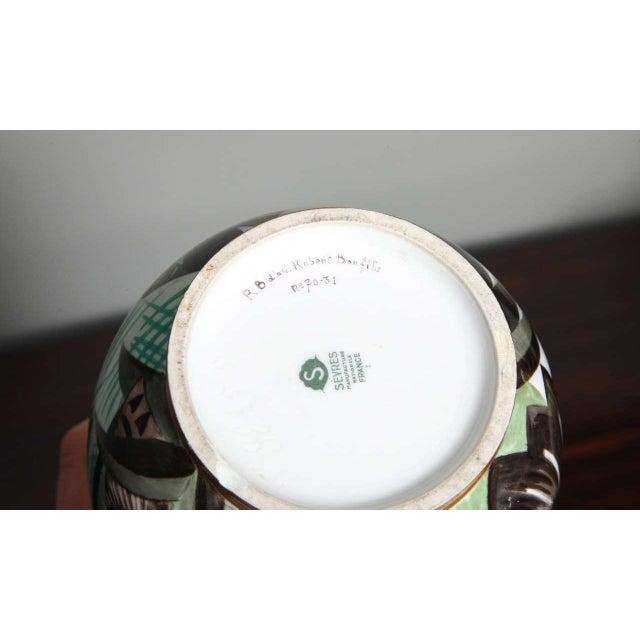 Ceramic Art Deco Porcelain Vase by Robert Bonfils For Sale - Image 7 of 8