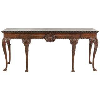 English George II Style Carved Mahogany Console, 19th Century For Sale