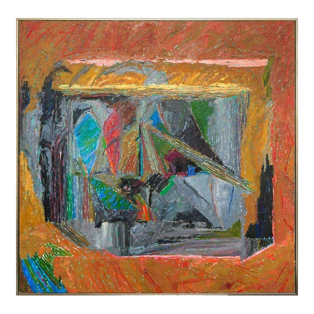 Oil on Canvas Abstract by John McNamara, American For Sale