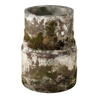 Vintage Moss Concrete Table Base For Sale