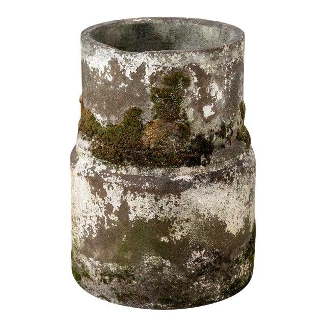 Vintage Moss Concrete Table Base For Sale