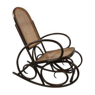 Bentwood Rocking Chair Made in Spain After Thonet For Sale