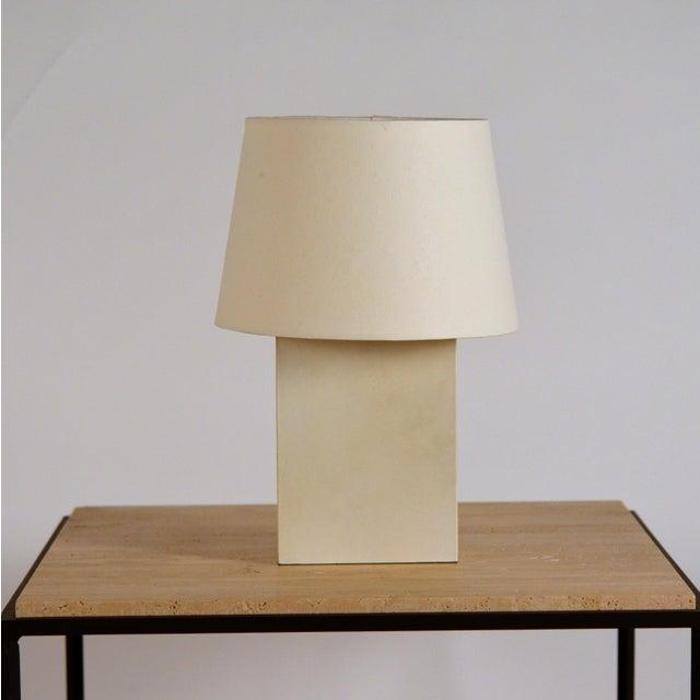DESIGN FRERES Bloc' Parchment Table Lamp by Design Frères - a Pair For Sale - Image 4 of 7