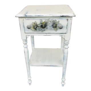 Baumritter White Side Table For Sale