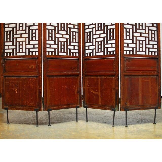 19th Century Lattice Panel Screen For Sale - Image 5 of 9