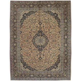 Vintage Persian Traditional Style Khorassan Area Rug - 10′7″ × 14′ For Sale