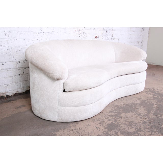 Mid-Century Modern Mid-Century Kidney-Shaped Sofa For Sale - Image 3 of 9