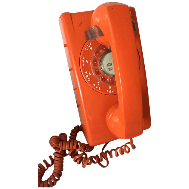 Vintage Orange Wall Phone - Image 2 of 12