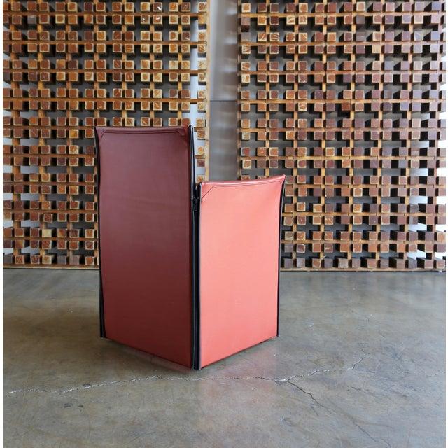 Animal Skin Mario Bellini 'Break' Armchairs - Set of 6 For Sale - Image 7 of 13