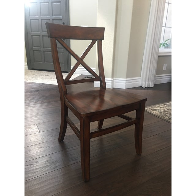 Aaron Wood Seat Chairs - Set of 8 For Sale - Image 5 of 8