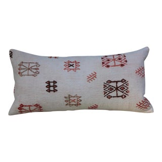 Turkish Handmade Lumbar Kilim Pillow For Sale