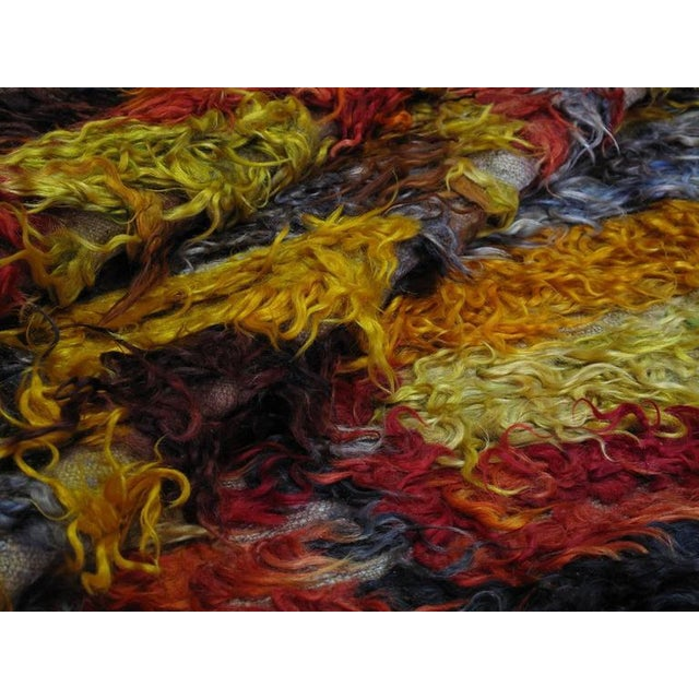 Four Squares, Angora Tulu Rug For Sale In New York - Image 6 of 10