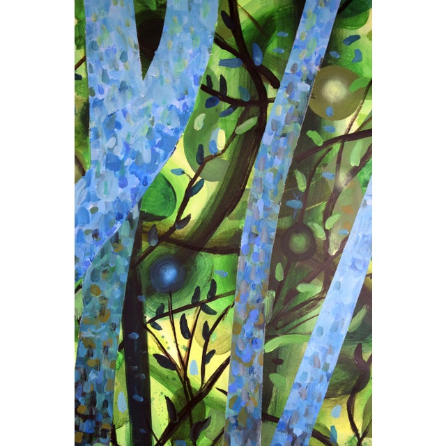 """Summertree Fantasia"" Original Acrylic Painting - Image 3 of 11"