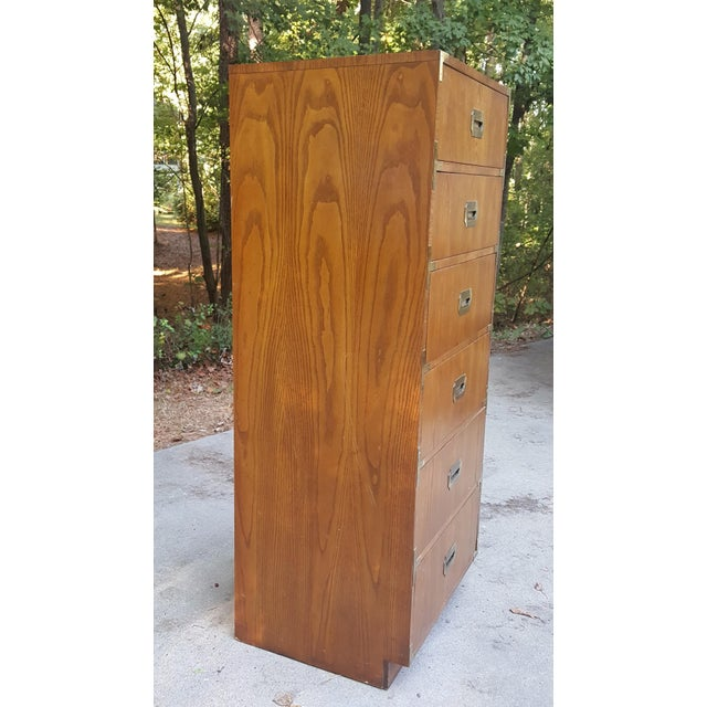 Gold Vintage Dixie Campaign Style Lingerie Chest of Drawers For Sale - Image 8 of 10