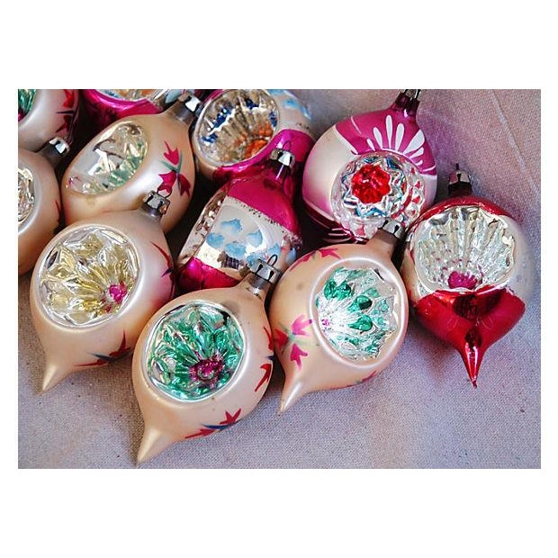 1950s Fancy Christmas Indent Ornaments - Set of 12 - Image 3 of 6