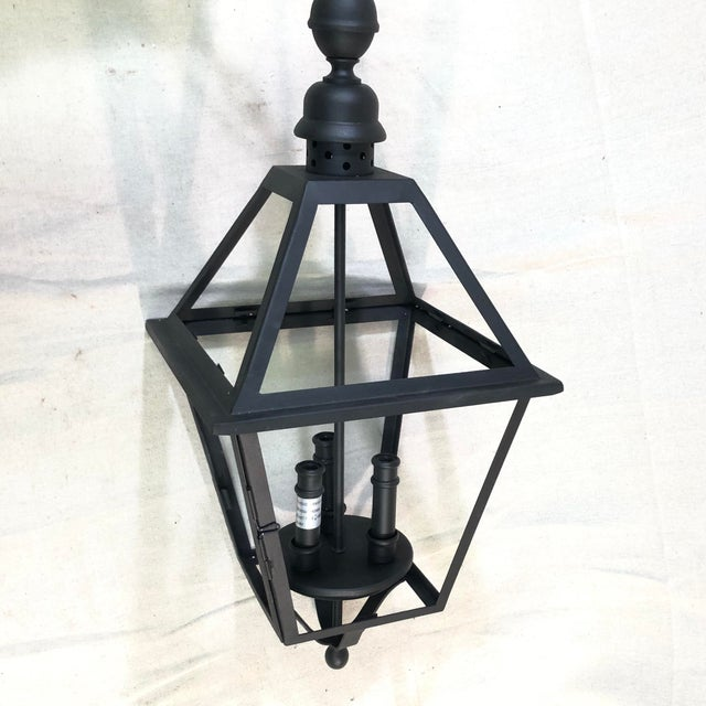 Troy Lighting Townsend Large Outdoor Lantern Pendant - Showroom Sample This handsome three-light pendant lantern is made...