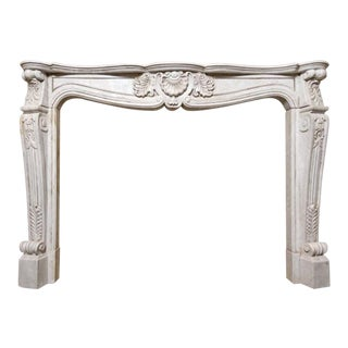 18th Century Carrara Marble Mantel For Sale