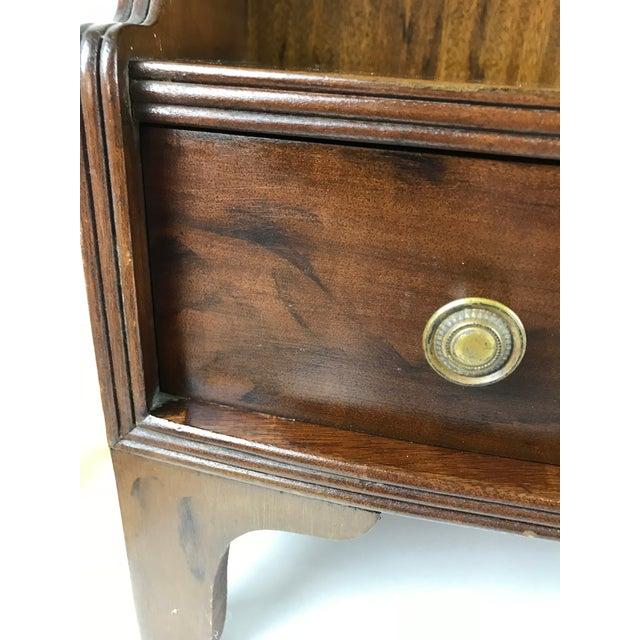 Hepplewhite Antique Wood Display Curio Shelf Drawer Cupboard For Sale - Image 3 of 13